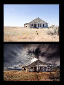old prairie house before and after